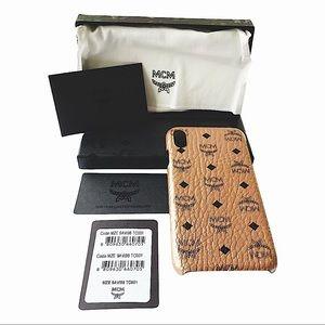 MCM Champagne Gold Visetos iPhone XS Max Case